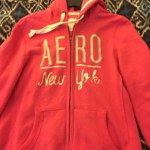 AERO pink hoodie NWOT